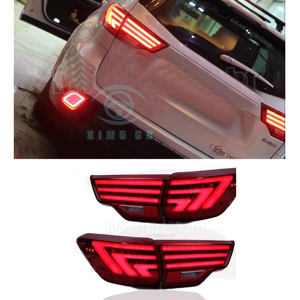LED Taillights For Toyota Highlander 2015-up Rear Tail Lamps Lights Smoked  Red