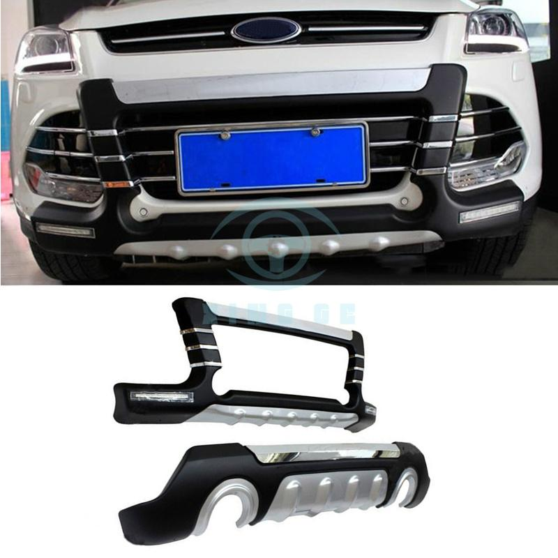 Front Rear Bumper Modified With Led Light For Ford