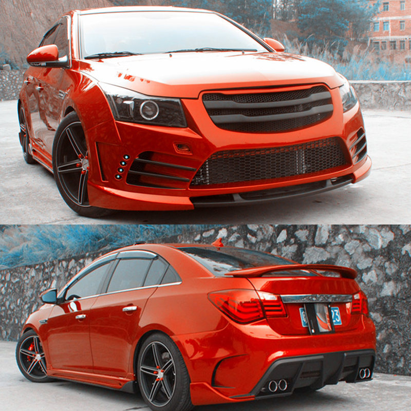 Pp Front Rear Bumper Bodykit Snap Type For Chevrolet Cruze