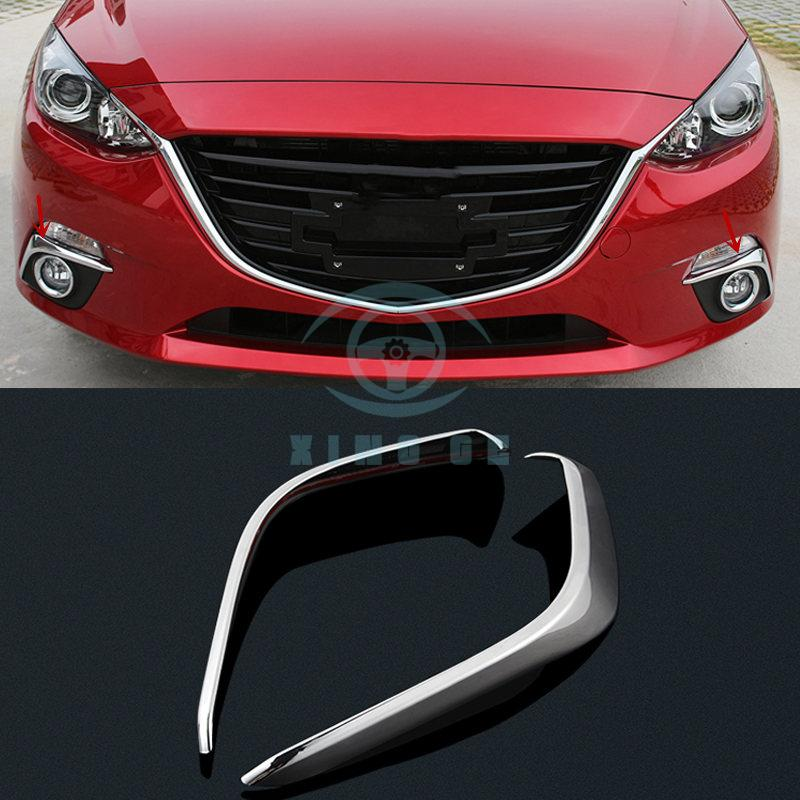 New Chrome Front Fog Light Trim for Mazda 3 M3 Axela 2014 2015 2016