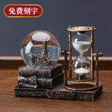 Crystal ball hourglass creative coffee table ornaments home jewelry wine cabinet living room ornament light luxury high-end desktop room