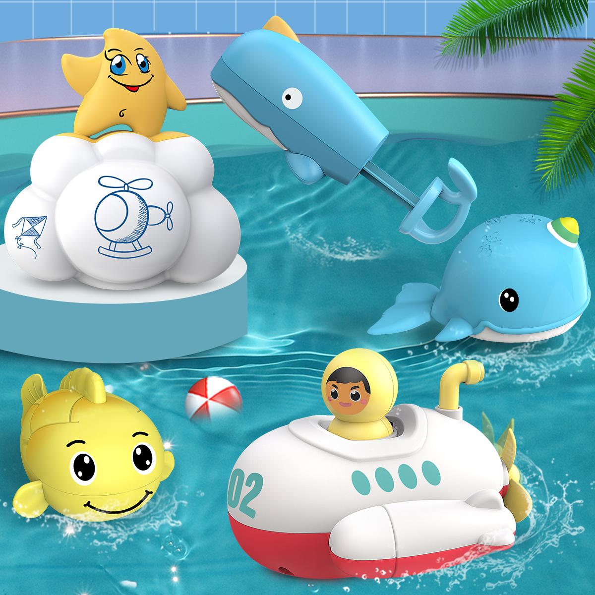 宝宝洗澡小鸭子游泳儿童戏水玩具婴儿沐浴花洒男孩女孩1抖音同款2