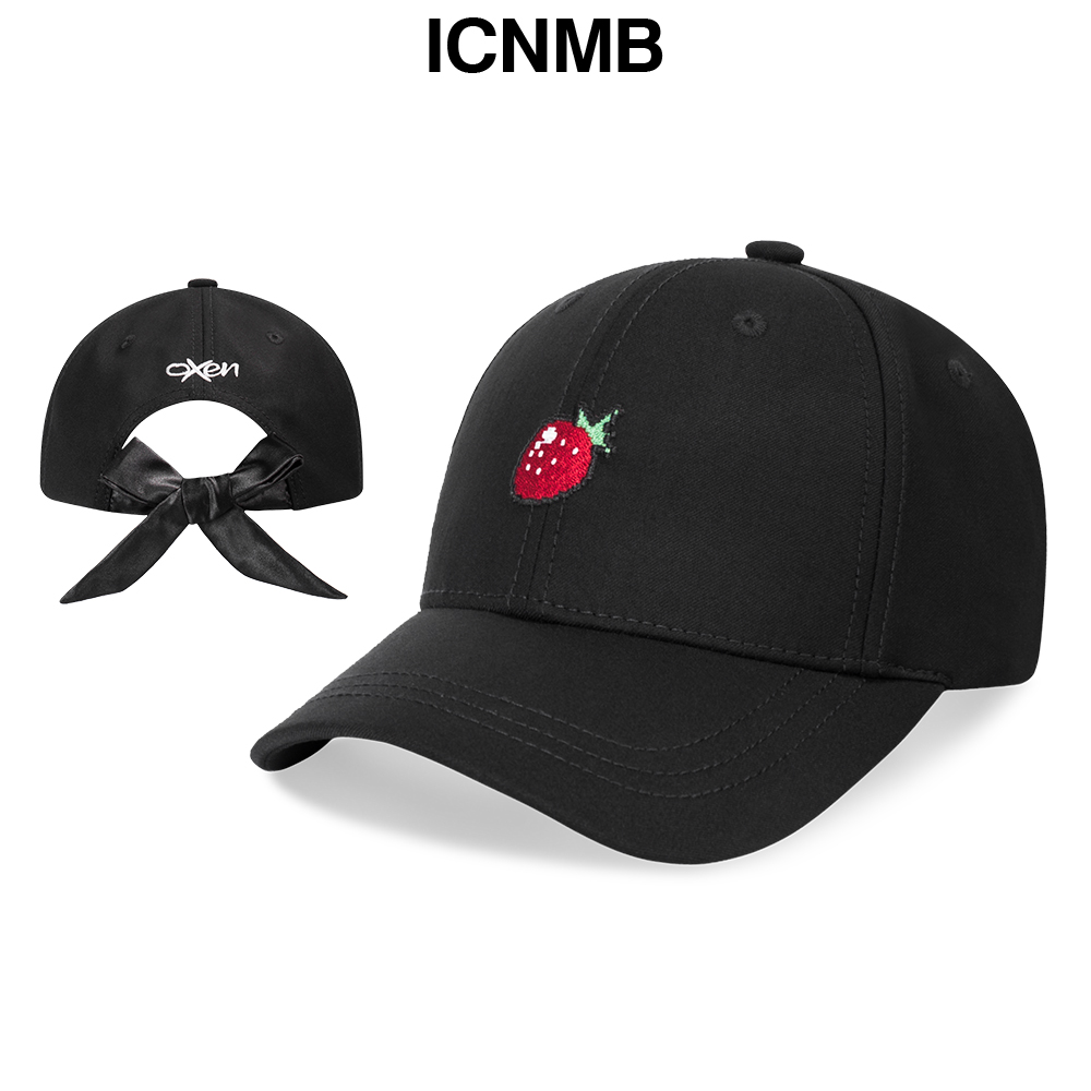 ICNMB summer small fresh baseball hat female strawberry embroidery ... 590d532da30