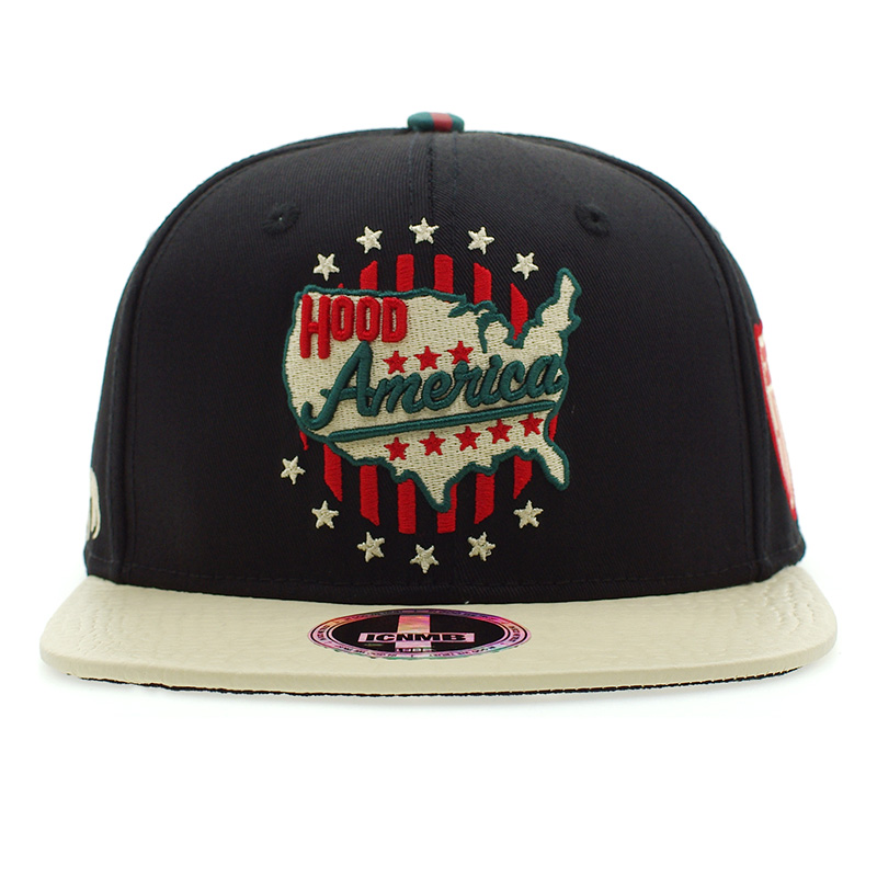 ICNMB HOOD AMERICA baseball cap female men s tide brand hat red and green  with color hat d371a83eef8