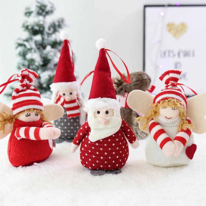 圣诞节装饰品挂件小老人场景公仔儿童圣诞树装饰店铺橱窗礼品布置