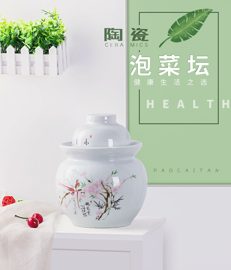 The Pickle jar earthenware household thickening Pickle jar sealing ceramic pickled small altar sichuan Pickle jar salted duck dense eggs