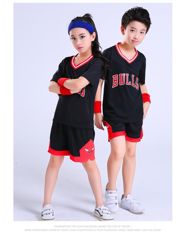 2180ed2fad3 Children's basketball uniforms boys and girls training short-sleeved ...