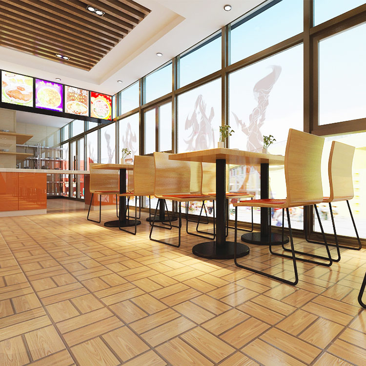 Mcdonald Wholesale Home: [USD 4.19] KFC Wood Grain Floor Tiles McDonald's Fast Food