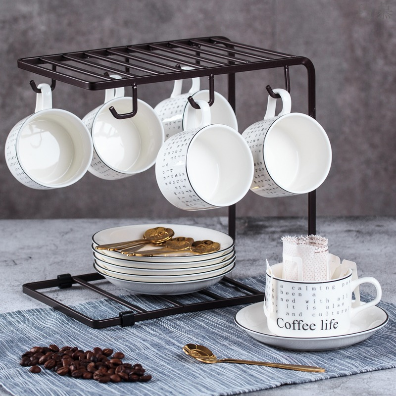 Qiao mu European - style coffee cup sets of high - grade contracted household coffee tea sets up phnom penh cover with ceramic small key-2 luxury, April 6