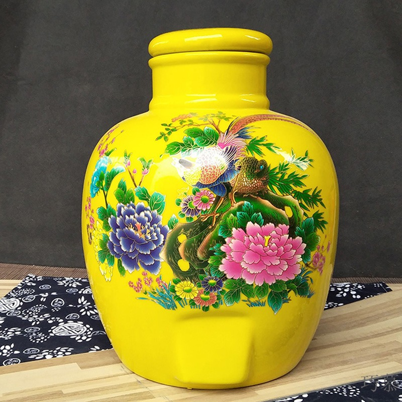 Qiao mu jingdezhen ceramic jars 10 jins 20 jins 30 jins 50 kg sealed it mercifully bottle festive wedding fermentation
