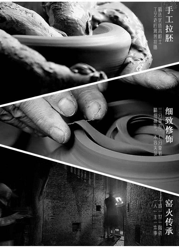 Qiao mu Japanese ceramics fair keller of black hand points coarse pottery tea device and a cup of tea accessories domestic tea sea