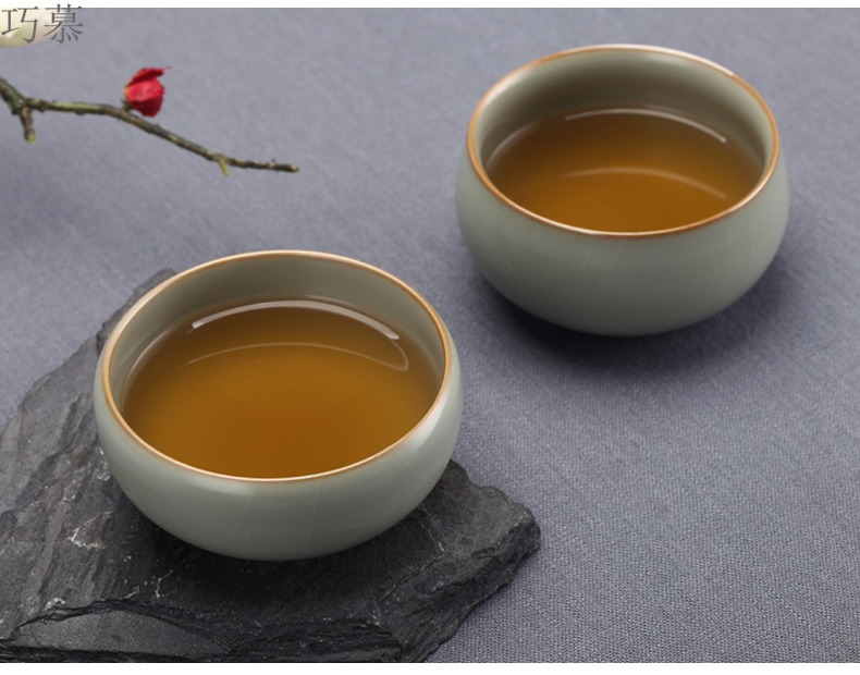Qiao mu discretion masters cup on your up CPU can keep jingdezhen ceramics by hand for a cup of kung fu tea set
