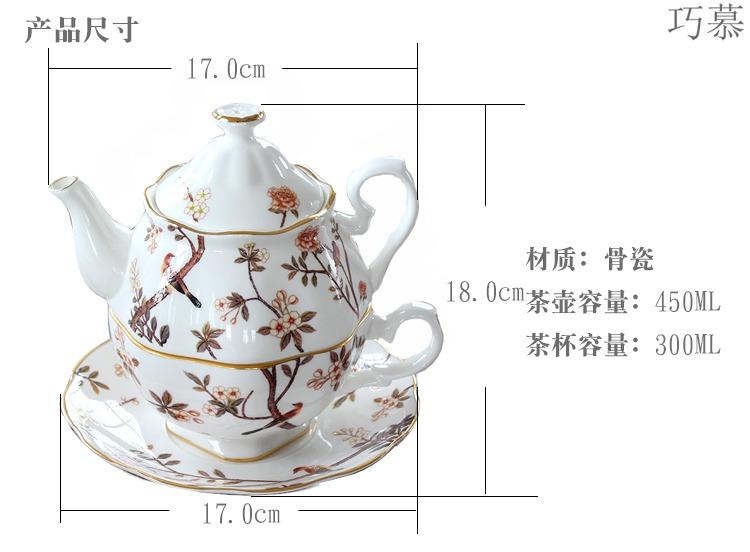 Qiao mu point ceramic lash pot of single CPU suit English afternoon tea tea set ipads China coffee cups and saucers of Europe type