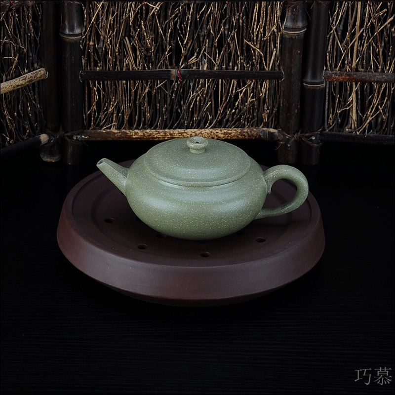 Qiao mu JS yixing it all hand purple sand teapot tea undressed ore down slope mud are it