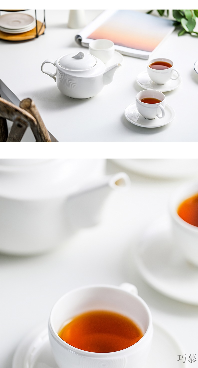 Qiao mu MLJ simplicity coffee cup suit afternoon tea cups with ceramic coffee set water places cup home