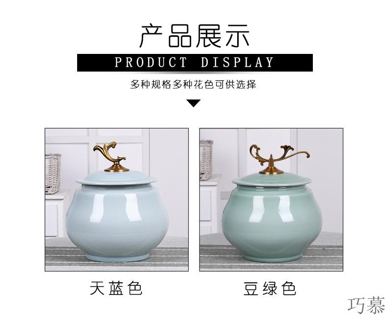 Longed for ceramic barrel 20 jins home opportunely ricer box barrel loading ricer box sealed storage tank storage box ice crack