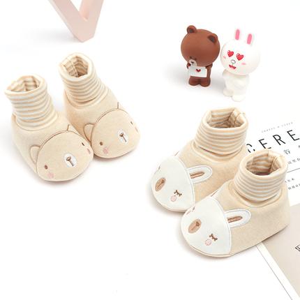 新生儿布鞋春秋鞋袜0-6-12个月男女宝宝透气软底婴儿鞋1岁学步鞋