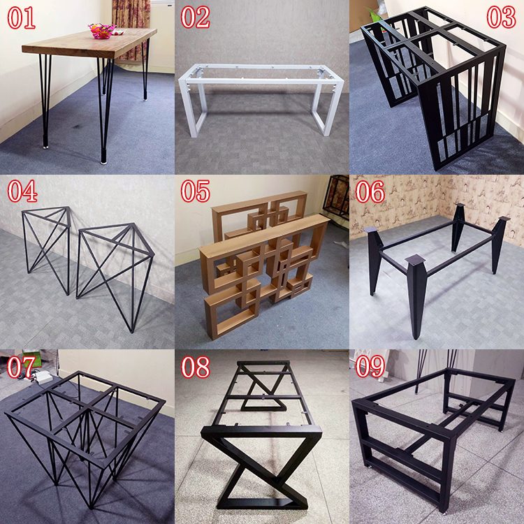 Custom Wrought Iron Table Frame Table Leg Bracket Table Legs Large Table  Table Small Coffee Table