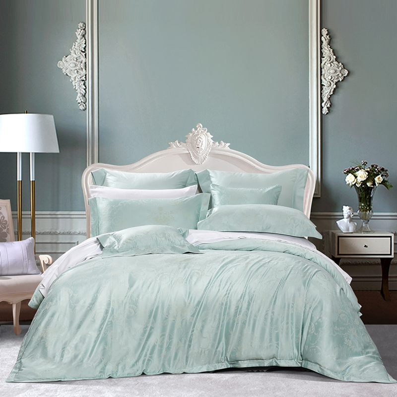 富安娜家纺馨而乐床上四件套全棉纯棉欧式床单六件套丝滑提花