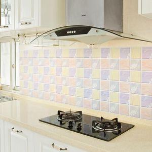厨房防油贴纸防水自粘耐高温灶台墙纸橱柜柜灶用油烟机台面壁纸