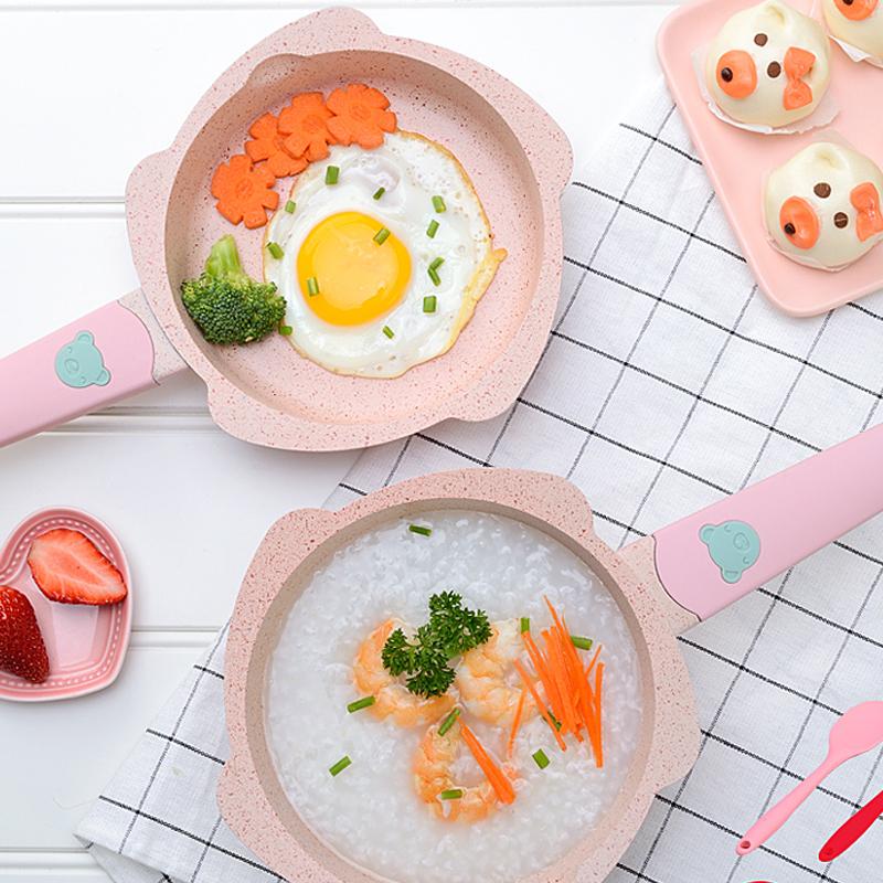 宝宝辅食锅婴儿小奶锅煎煮一体锅套装多功能儿童麦饭石煮粥不粘锅