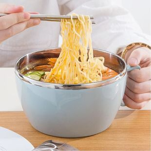 [haojiapin] stainless steel noodle bowl with lid 1000ml