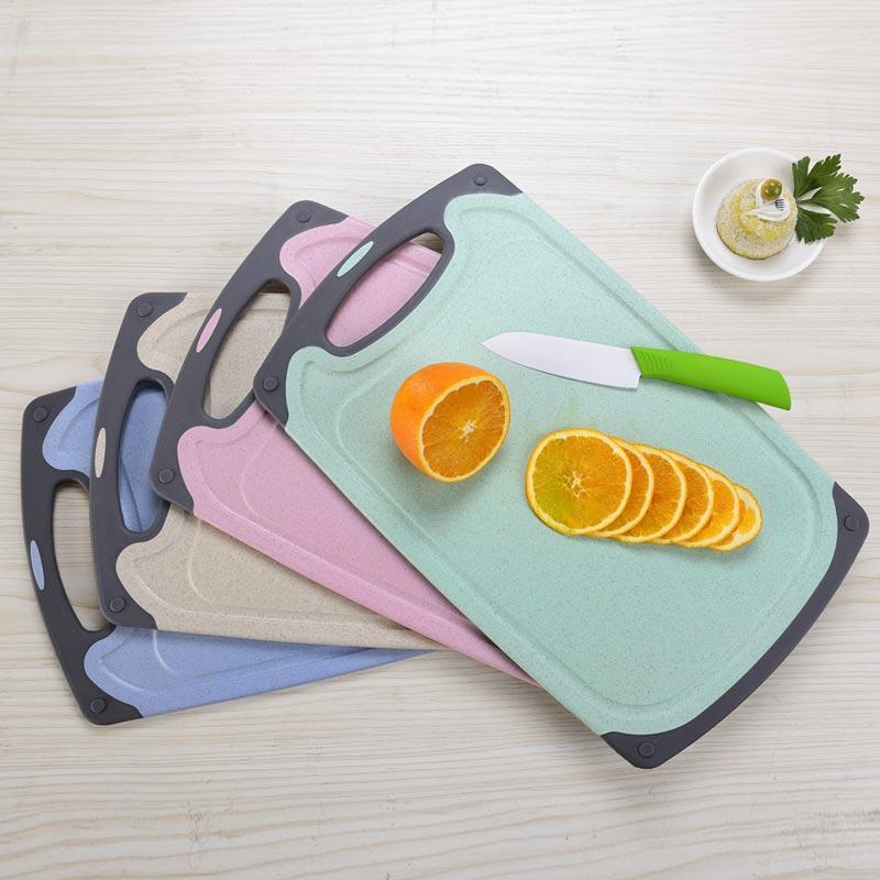 小麦秸秆菜板切菜板家用实木抗菌防霉砧板水果塑料小宿舍案板占板