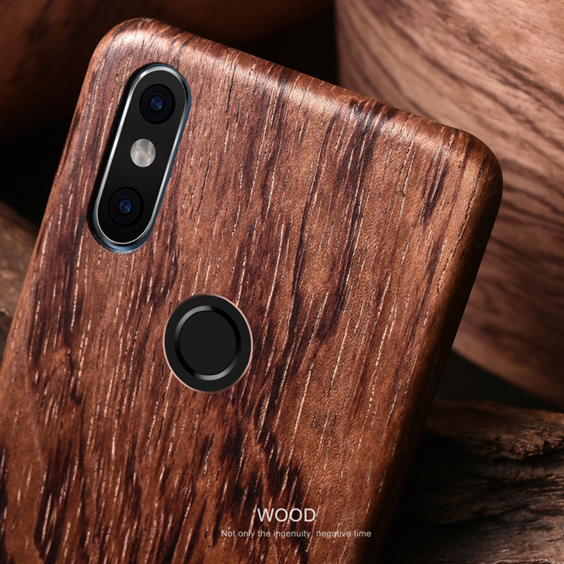 SHOWKOO Kevlar Natural Wood Ultra Slim Case Cover for Xiaomi Mi 8