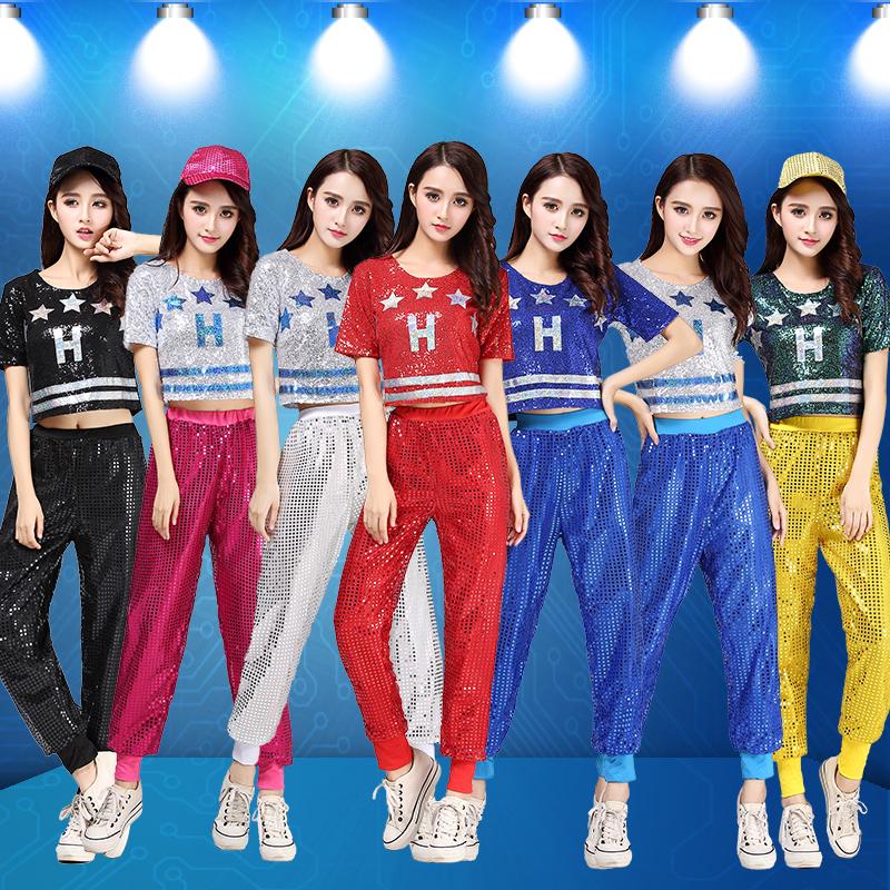 7f9e9c9ec1cd New Jazz costume DS female adult cheerleading costume modern dance dress  hip-hop sequins dance clothes