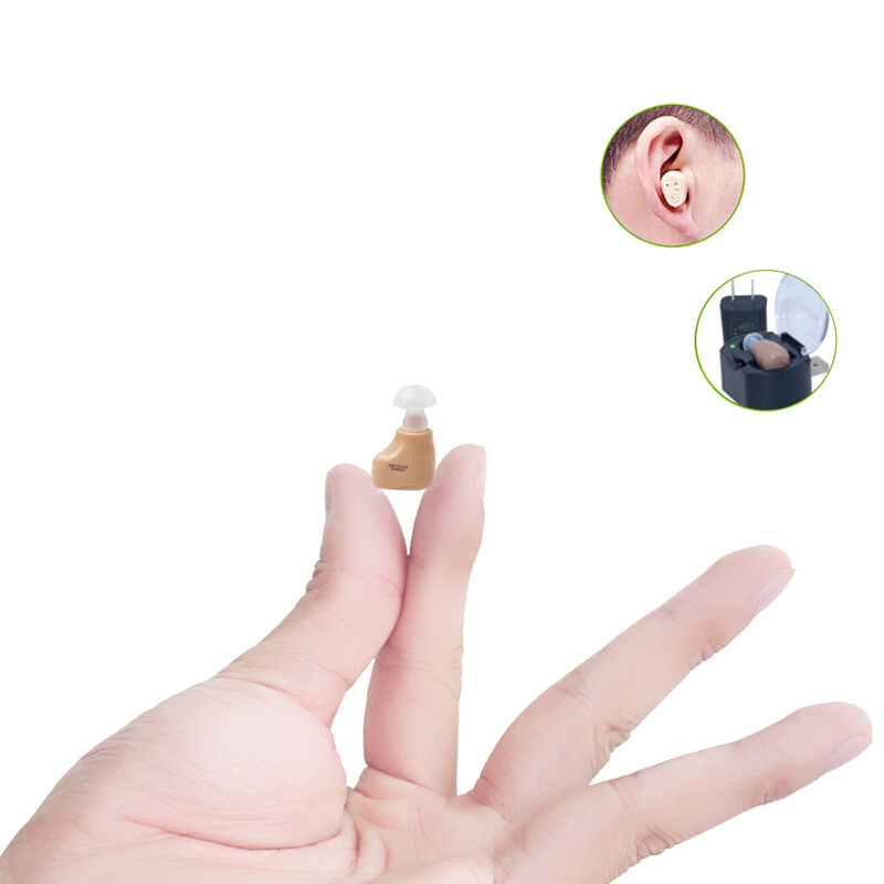 中德助听器老人耳聋耳背可充电式年轻人无线隐形助听器耳内式耳机
