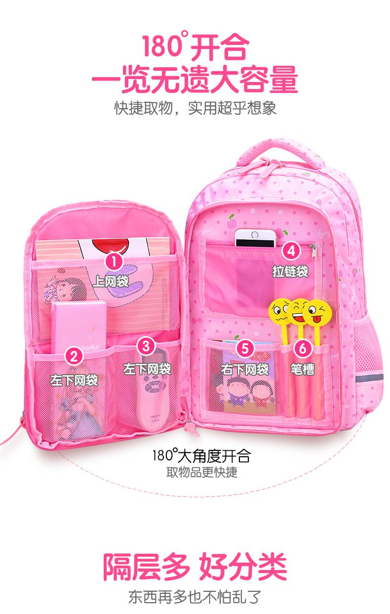 小学生书包女双肩包可爱校园韩版学生揹包年级公主轻便防水详细照片