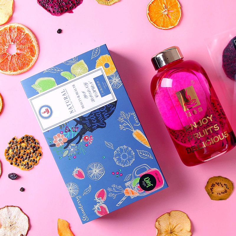 网红饮品水果茶纯果干手工花果果茶養生组合小袋装柠檬百香花茶包