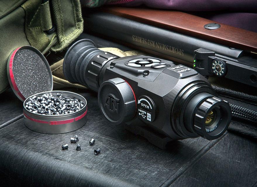 美国原装进口ATN雷神热成像瞄准镜Thor-HD 2-8x25外接战术测距仪