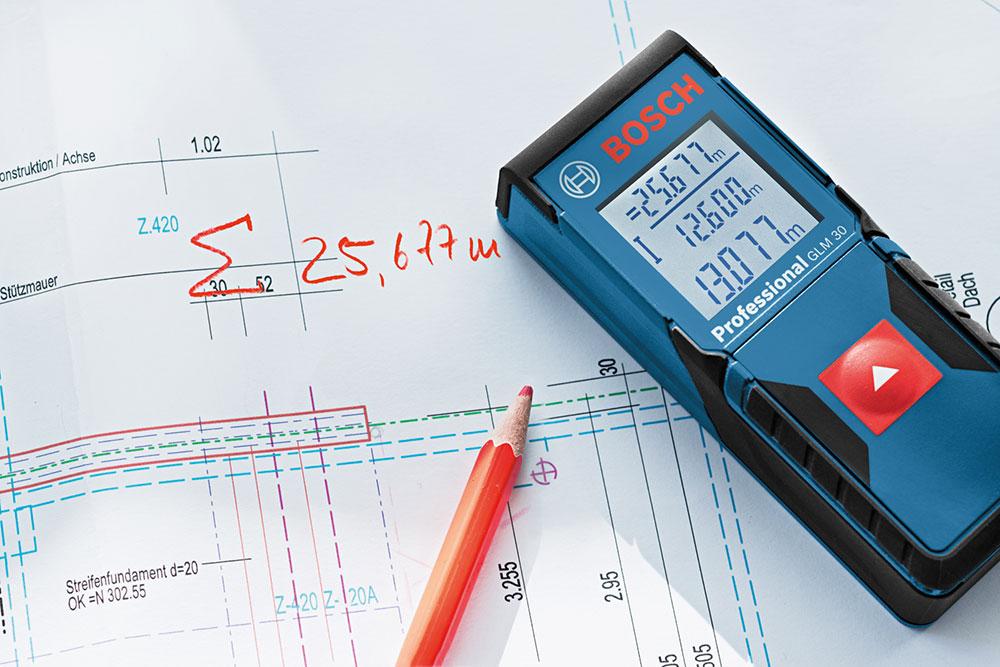 BOSCH博世激光测距仪GLM30 测量30米 精度2毫米