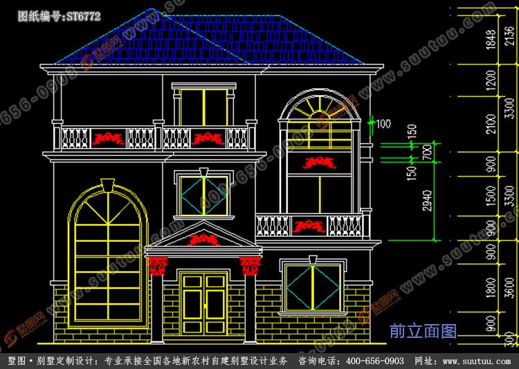 30万以内农村建房三层,农村别墅设计 农村30万别墅款式三层