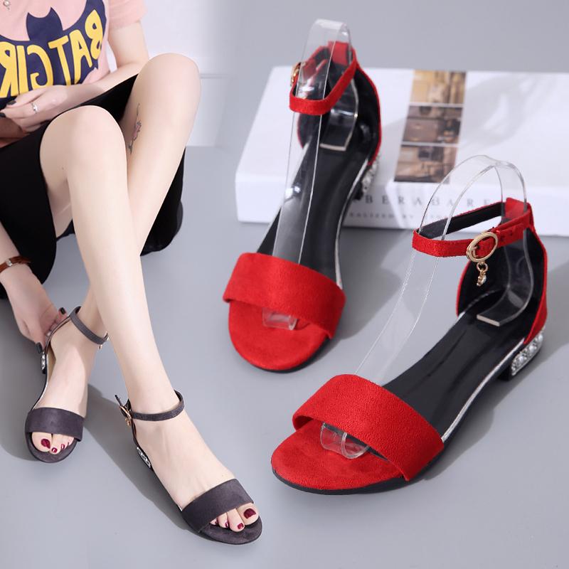 XCZJ Korean Style 2018 Summer Women Sandals Open Toe Flip Flops Women's Flat Sandle With low Women Shoes Gladiator student Shoes 21