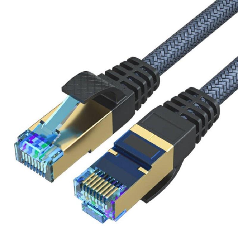 斯格八类万兆网线cat8网络线家用超8类5g网络纯铜屏蔽电脑路由器