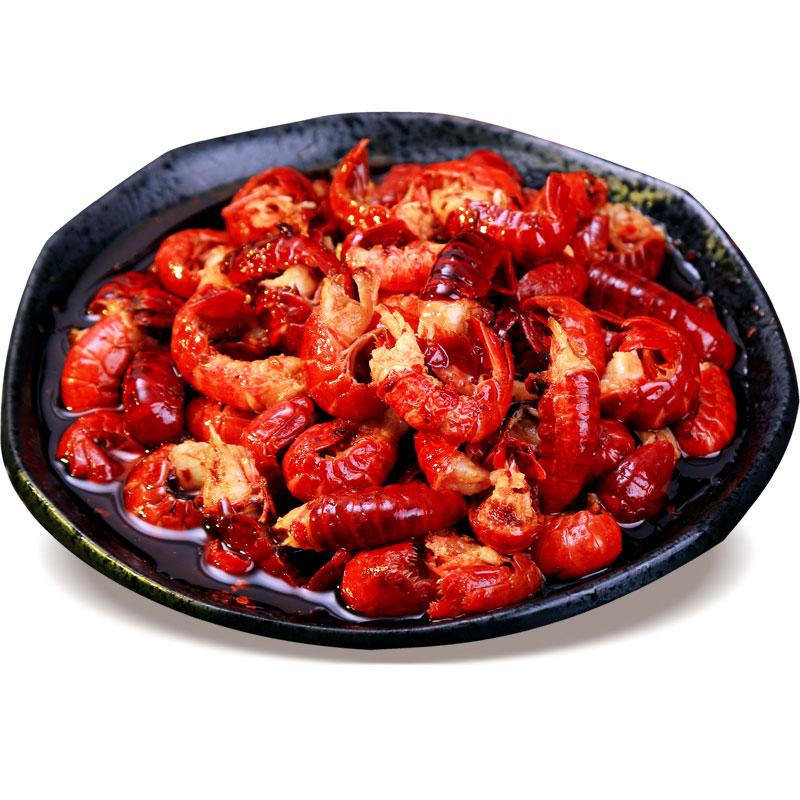 小七陈卤麻辣小龙虾尾150g香辣虾尾海鲜虾球即食卤味零食重庆辣卤
