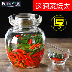 Kimchi jar glass thickened pickles pickles altar home with water to seal the extra large Sichuan pickle jar pickle jar salted vegetable can
