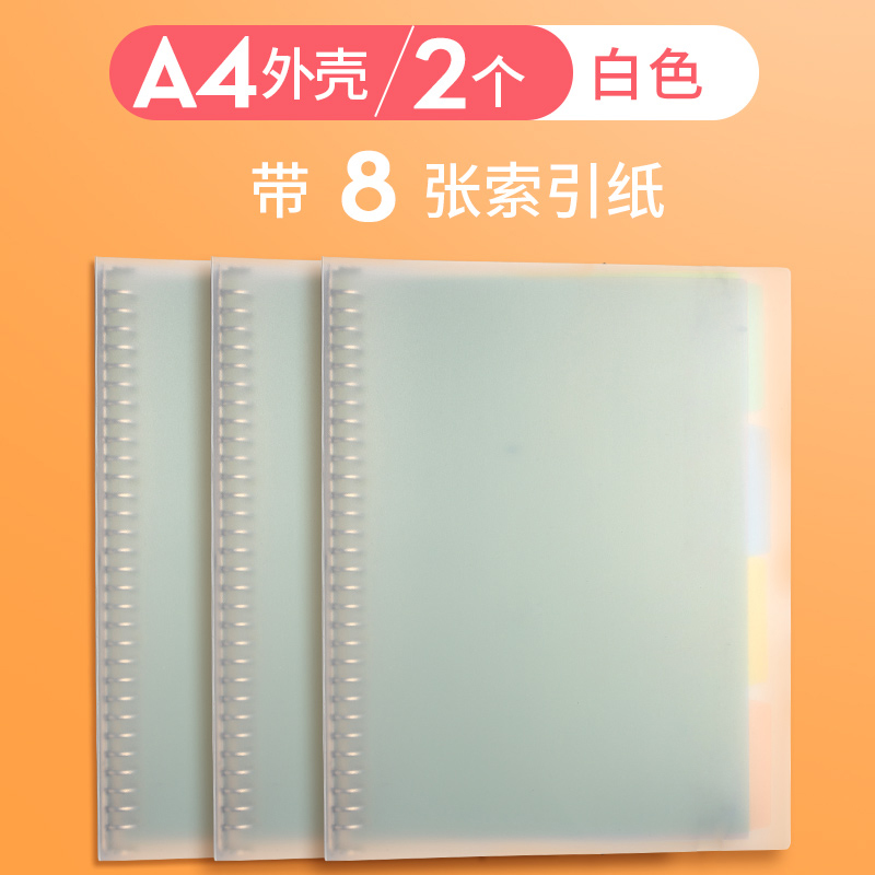 A4 Shell / 2pcs / Matte White / Send 8 Separate Pages