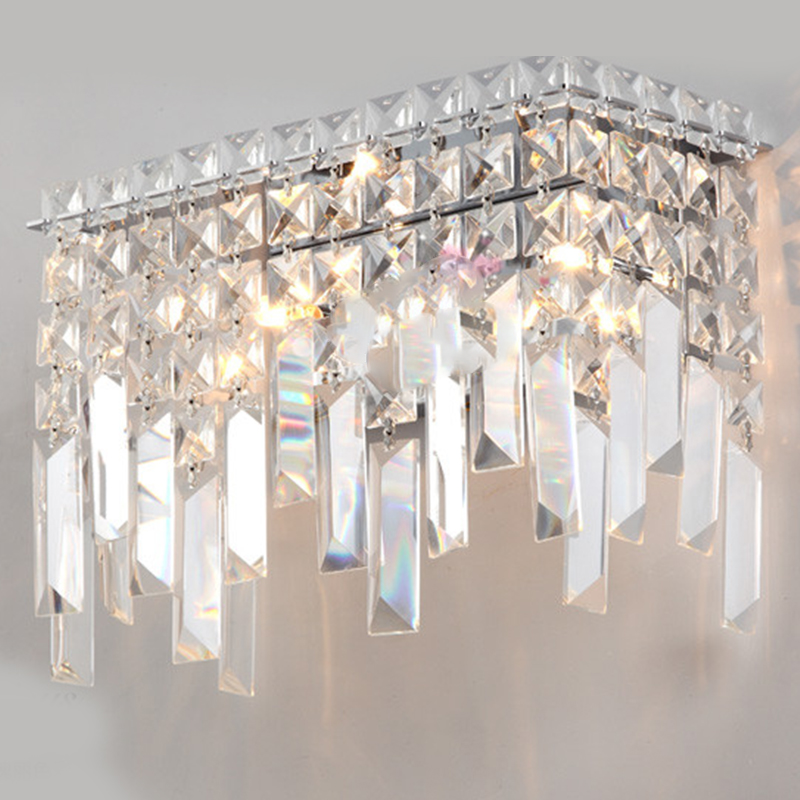 Aaa 2hole clear square rystal glass beads chandelier chain for Diy crystal chandelier lamp