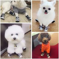 Обувь для собак водонепроницаемый Четыре сезона Teddy shoes комплект 4 только Щенок обувь маленькая собака, чем медведь ноги набор животных обувь