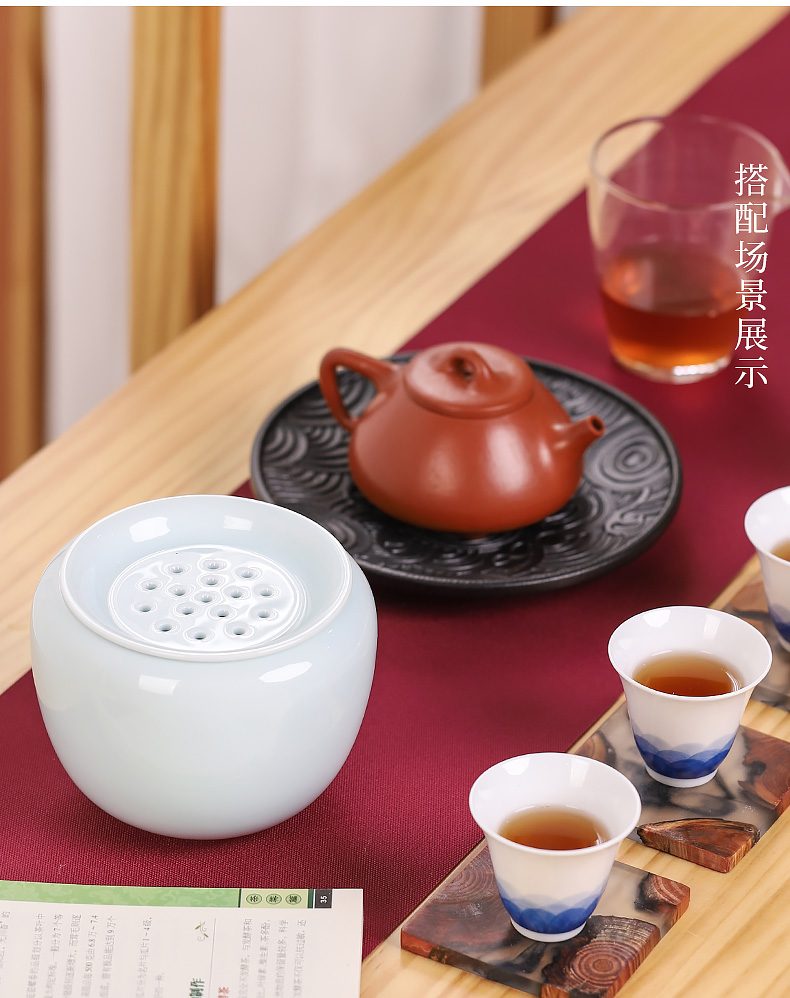Ceramic antique tea water, after the wash with cover zen Japanese tea taking small kung fu tea accessories cup washing coarse pottery restoring ancient ways
