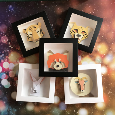 Animal creative collage children students hand-made material package diy hand-made set three-dimensional educational toys