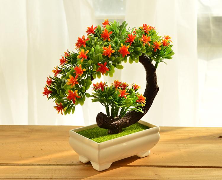家居模擬花室內盆景植物客廳裝飾小擺件盆栽綠植假花桌面擺件    全館免運