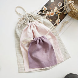 Pure linen storage bag 100% LINEN household clothing storage bag has good air permeability and sanitation, and is easy to take care of