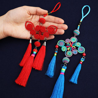 Creative ancient style cultural gifts Chinese knot small pendant Chinese celebrity style car pendant to send foreigners gifts
