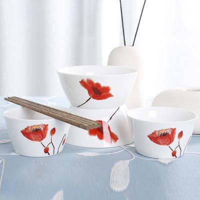 【逐鹿】韩式骨瓷碗筷餐具4件套