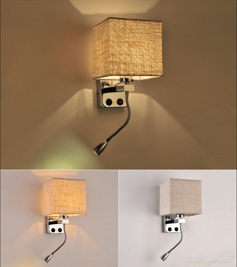 Modern Wall Sconces For Hallway : Modern LED Cloth Wall Lamp Wall sconce Light Hallway Bedroom Bedside lighting eBay