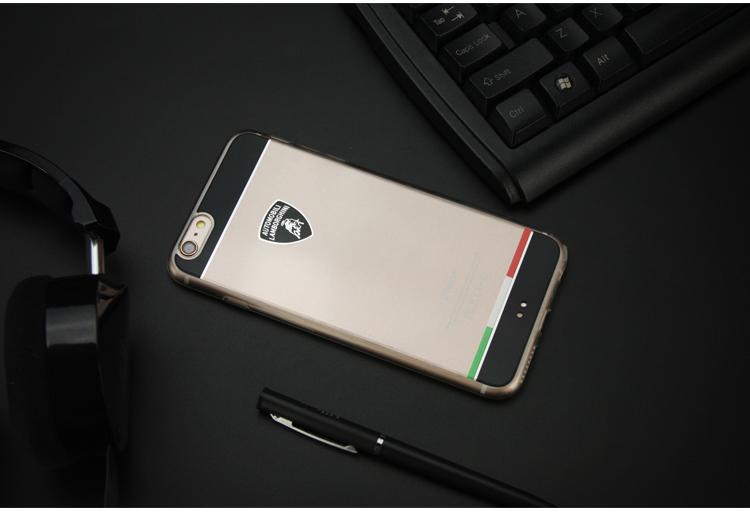 Automobili Lamborghini Tricolore D5 Hybrid Clear Skin Case For iPhone 6/6S